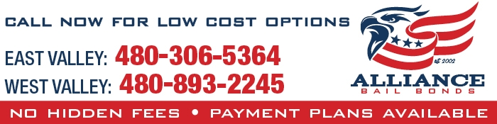 Alliance Bail Bonds AZ - Low Cost Bail Bonds Mesa, No Hidden Fees: Call 888-306-5364