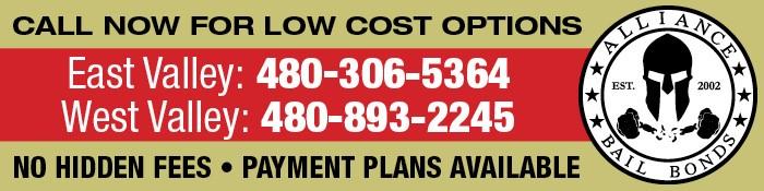 Alliance Bail Bonds AZ - Low Cost Bail Bonds Mesa, No Hidden Fees: Call 888-306-5364